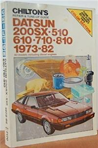 Download Chilton's repair & tune-up guide, Datsun 200SX, 510, 610, 710, 810: 1973-82 : all models including diesel engines eBook