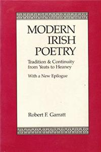 Download Modern Irish Poetry: Tradition and Continuity from Yeats to Heaney eBook