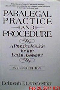 Download Paralegal practice and procedure: A practical guide for the legal assistant eBook